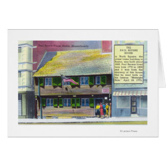 Exterior View of the Paul Revere House Card