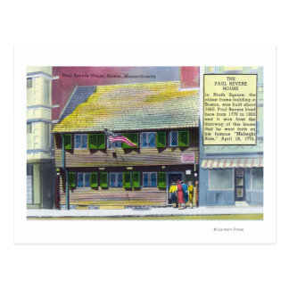 Exterior View of the Paul Revere House Postcards