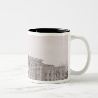 Exterior View of the Pavilion of Mirrors, Isfahan, Two-Tone Coffee Mug
