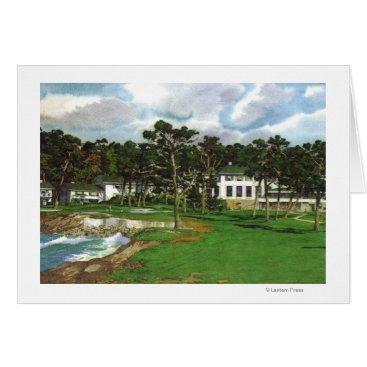 LanternPress Exterior View of the Pebble Beach Lodge & Card