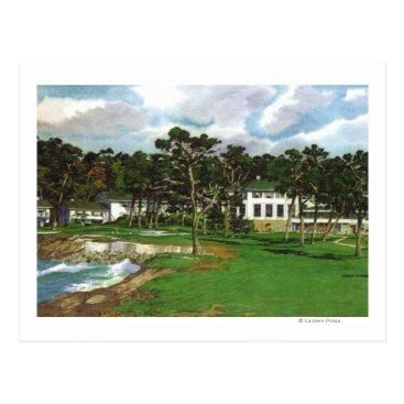 LanternPress Exterior View of the Pebble Beach Lodge & Postcard