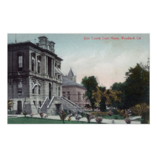 Exterior View of the Polo County Court House Poster