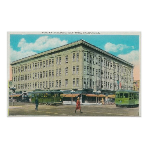 Exterior View of the Porter Building Poster