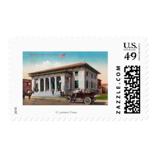 Exterior View of the Post OfficeSanta Rosa, CA Postage Stamp