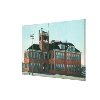 Exterior View of the Public SchoolMedford, OR Canvas Print