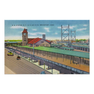 Exterior View of the Railroad Station 2 Print