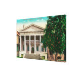 Exterior View of the Scottish Rite Temple Stretched Canvas Print