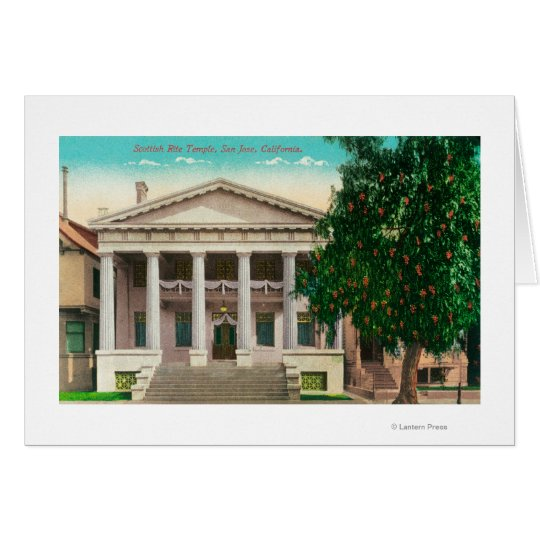 Exterior View of the Scottish Rite Temple Card