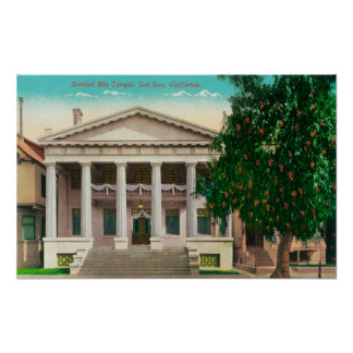 Exterior View of the Scottish Rite Temple Print