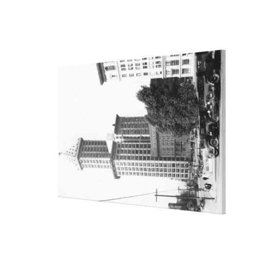 Exterior View of the Smith Tower Canvas Print