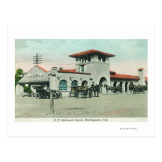 Exterior View of the Southern Pacific Depot 4 Postcard