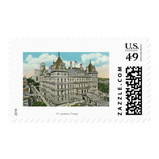 Exterior View of the State Capitol and Office Postage Stamp