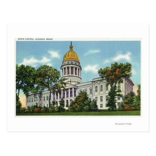 Exterior view of the state capitol building 2 postcard for Exterior view of building