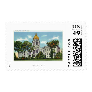Exterior View of the State Capitol Building # 2 Stamp