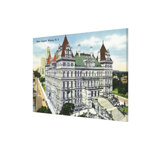 Exterior View of the State Capitol Building # Canvas Print