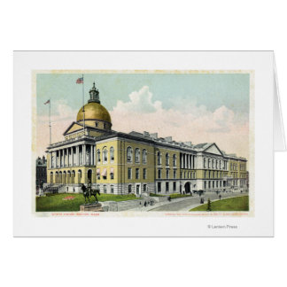 Exterior View of the State House # 2 Card