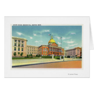 Exterior View of the State House on Beacon Card