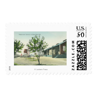 Exterior View of the Sunnyvale Cannery Postage