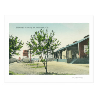 Exterior View of the Sunnyvale Cannery Postcard