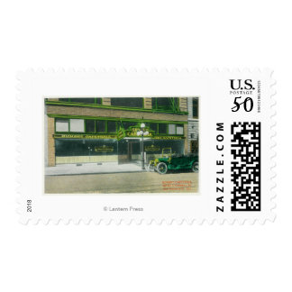 Exterior View of the Sunset Cafeteria Postage