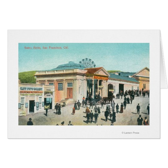 Exterior View of the Sutro Baths Card