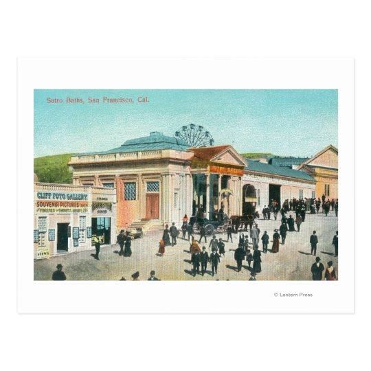 Exterior View of the Sutro Baths Postcard