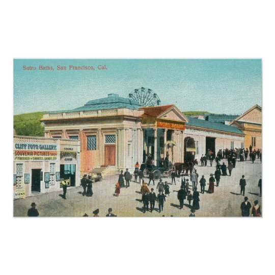 Exterior View of the Sutro Baths Poster