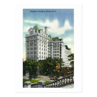Exterior View of the Telephone Building 2 Postcard