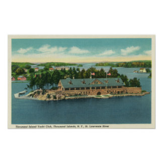 Exterior View of the Thousand Island Yacht Poster
