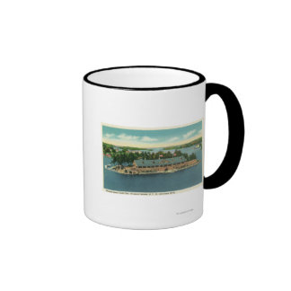 Exterior View of the Thousand Island Yacht Ringer Coffee Mug