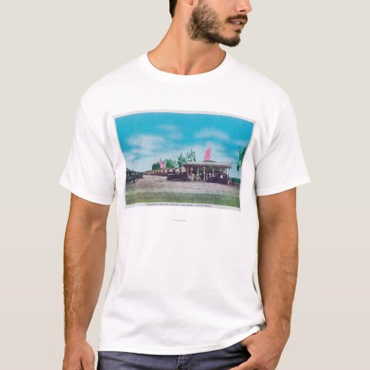 Exterior View of the Tourist Motor Court T-Shirt