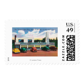 Exterior View of The Tower Coffee Shop Postage