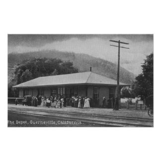 Exterior View of the Train Depot Poster