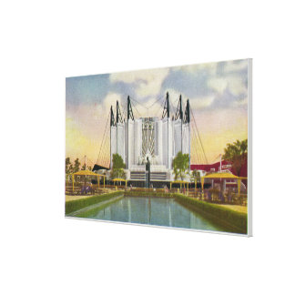 Exterior View of the Travel Building Canvas Print
