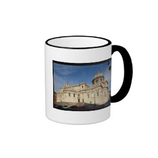 Exterior view of the tribune ringer coffee mug
