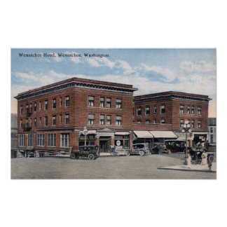 Exterior View of the Wenatchee Hotel Print