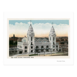 Exterior View of Union Station Postcard