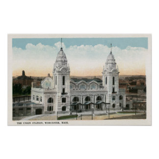 Exterior View of Union Station Poster