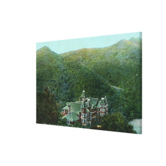 Exterior View of Witter Springs Hotel Canvas Print