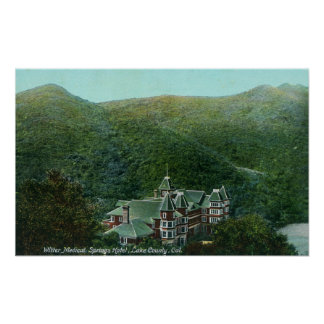 Exterior View of Witter Springs Hotel Print