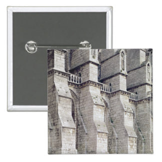 Exterior View showing the Buttresses Pinback Button