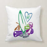 exterme sports all diff colors teal theme.png throw pillows