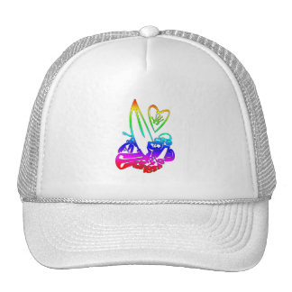 exterme sports rainbow gradient png trucker hats