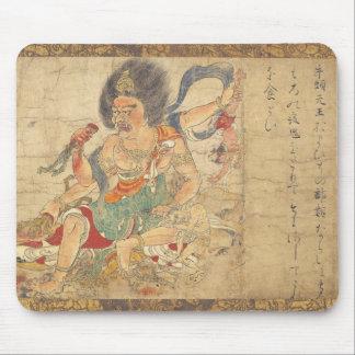 Extermination of evil. Ancient Japanese Art c.1100 Mousepad