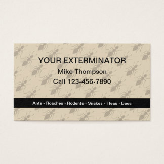 Exterminator Ants Pattern In Background Business Card