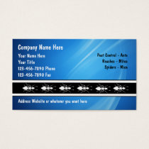 Exterminator Business Cards