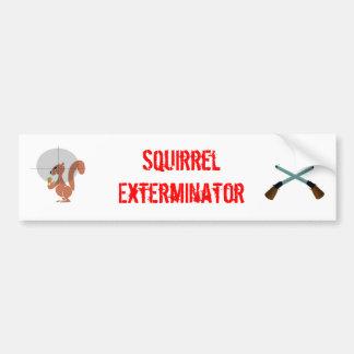 exterminator de la ardilla pegatina de parachoque