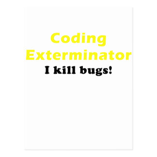 Exterminator de la codificación mato a insectos postal