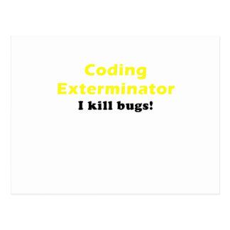 Exterminator de la codificación mato a insectos postales