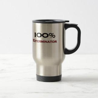 Exterminator del 100 por ciento tazas de café